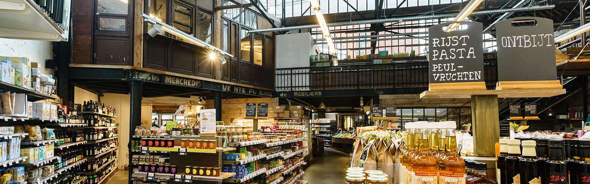 Le premier magasin Färm, quai du Bois à Brûler à Bruxelles: créer un trait d'union entre l'authenticité de la ville et l'authenticité de la campagne.